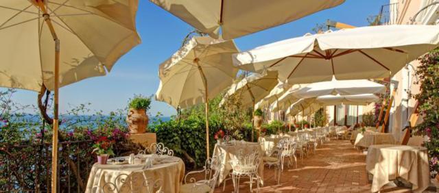 Terrasse hôtel 5 étoiles à Taormina